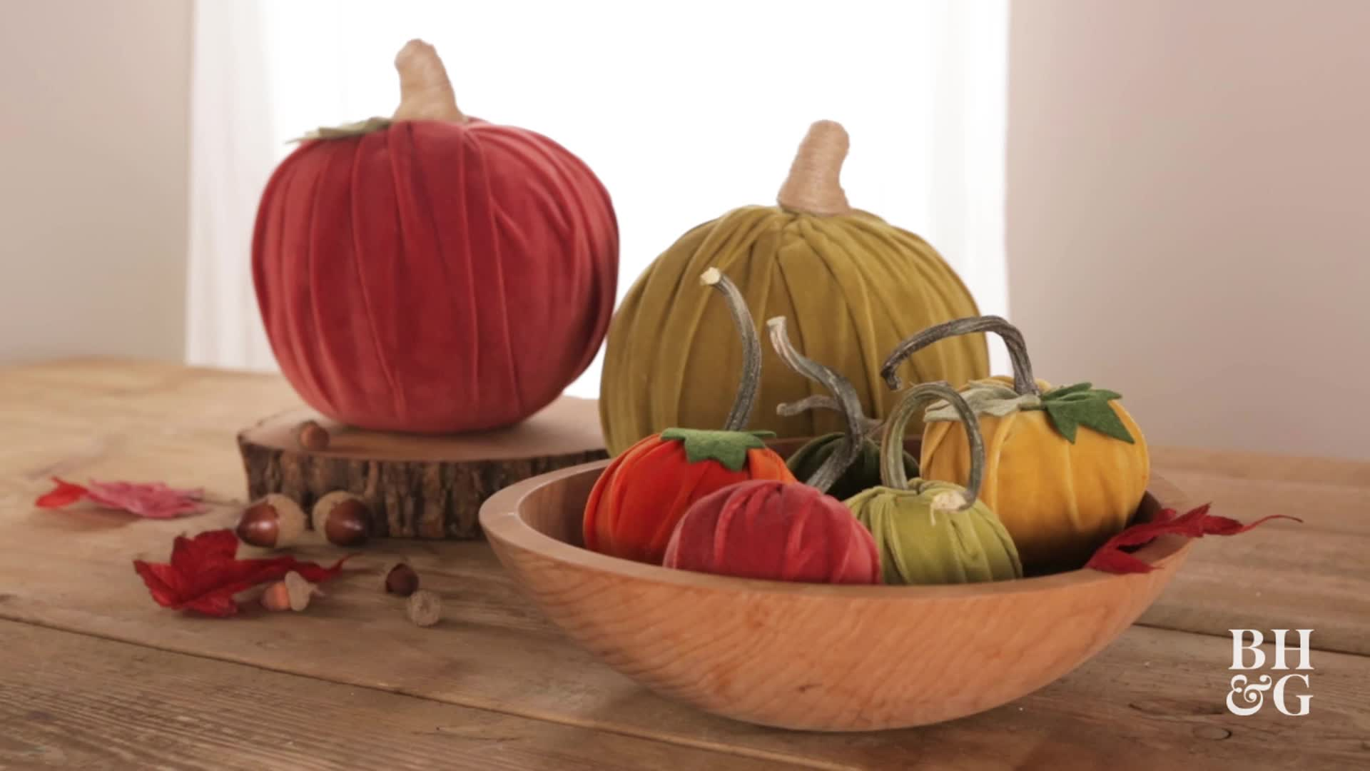 You Need these DIY Velvet Pumpkins for Fall