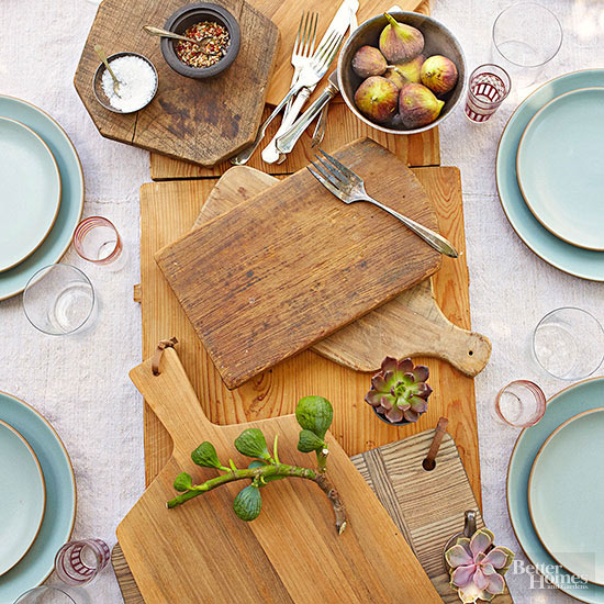 Cutting Board Table Setting