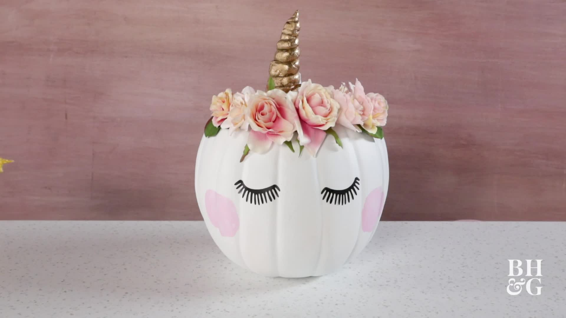 Make This Adorable Unicorn Pumpkin