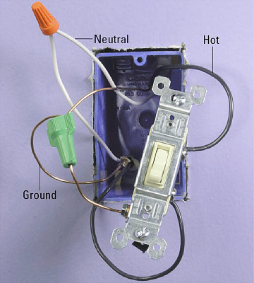 All About Light Switch Wiring | Better Homes & Gardens on relay for switch, bracket for switch, connectors for switch,