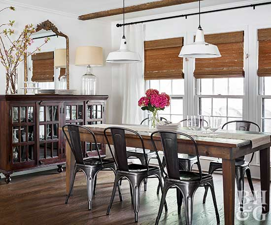 dining room decor, hutch, dining room chairs
