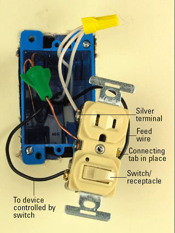 Amazing All About Combination Switches And Receptacles Better Homes Gardens Wiring Database Ilarigelartorg