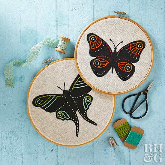 How to Make an Embroidered Butterfly