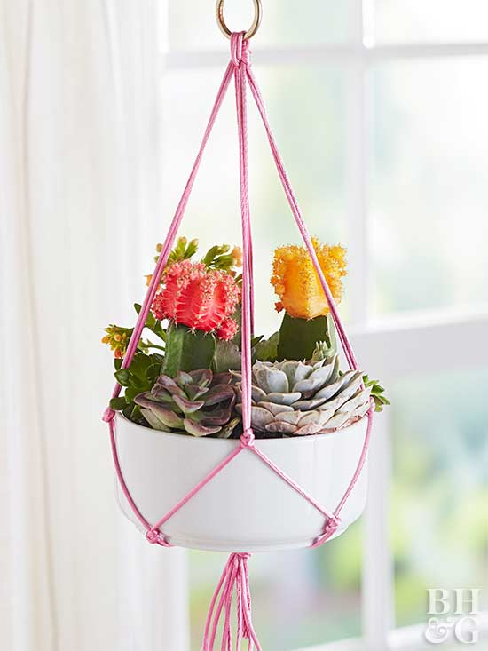How to Make a Hanging Macramé Plant Holder