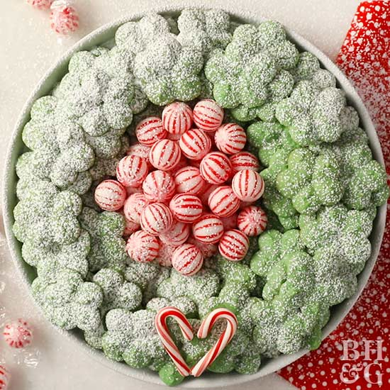 Spritz Christmas Cookie Wreath, candy, Christmas treats
