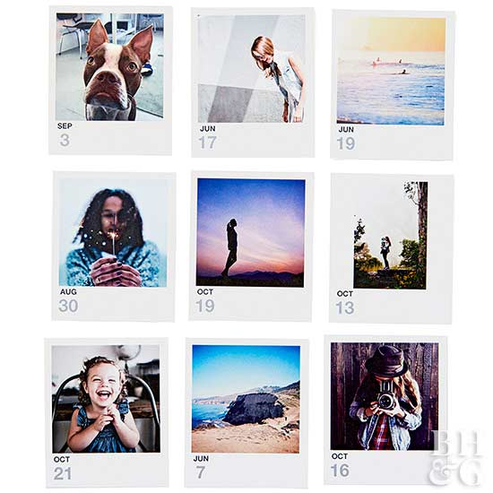 Picture-Perfect Displays for All Your Instant-Camera Photos