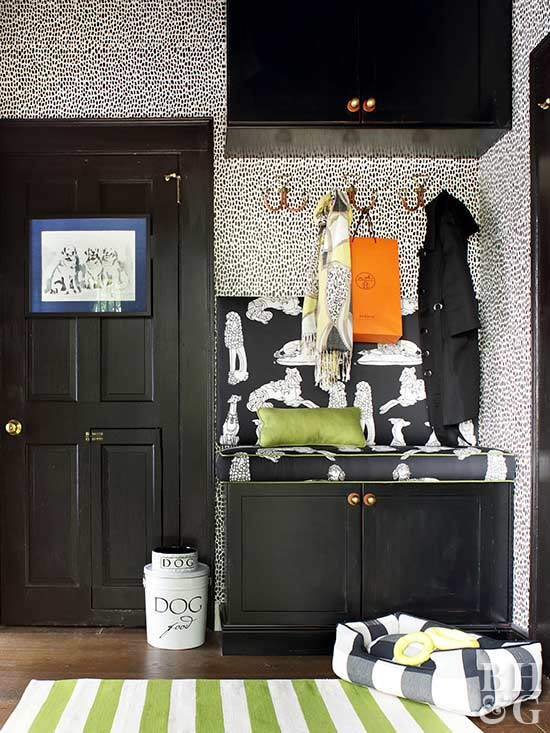 entry, Fake an Entryway, dog gear, green rug