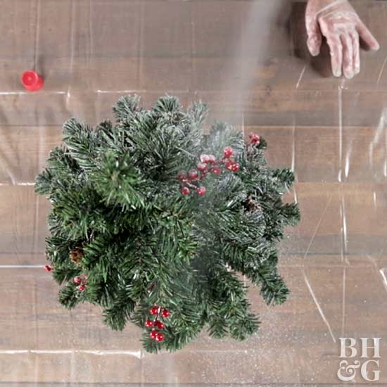 Christmas Tree Spray.How To Flock A Tree Two Ways Better Homes Gardens