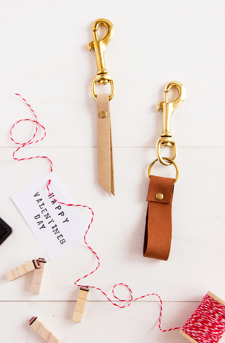 DIY Men's Leather Key Chain