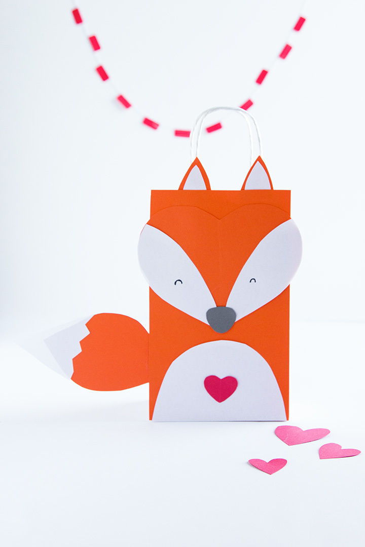 Fox Valentine's Day Treat Bag