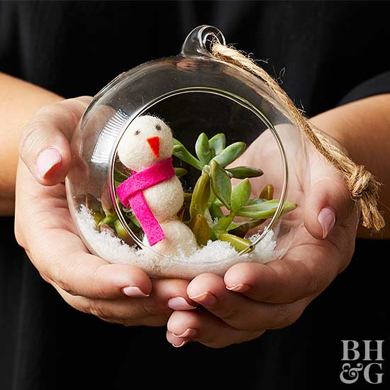 Build a Snowman Terrarium