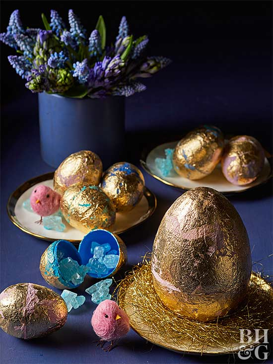 Surprise-Inside Gold Leaf Eggs