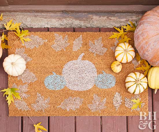 How to Make an Adorable Fall Welcome Mat