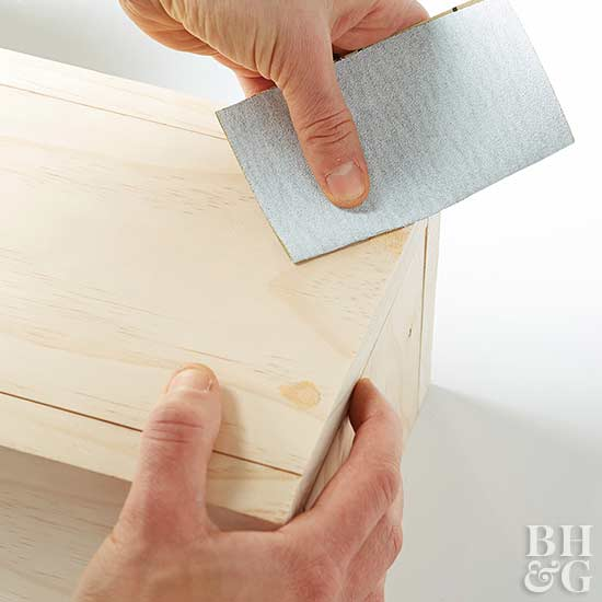 How to Make Storage Boxes sanding