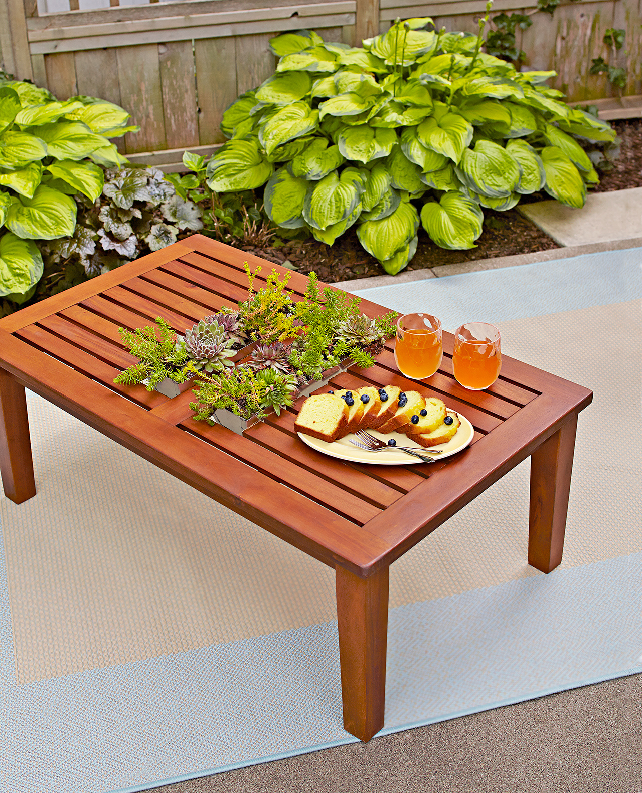 How to Make a Table With an Inset Planter