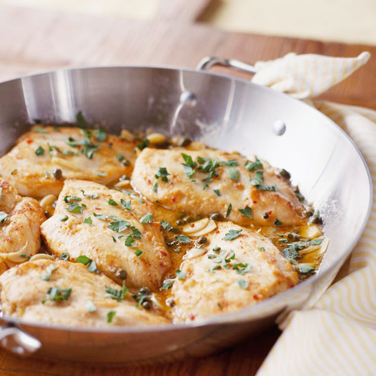 boiling or poaching chicken breasts in liquid on stove top with herbs