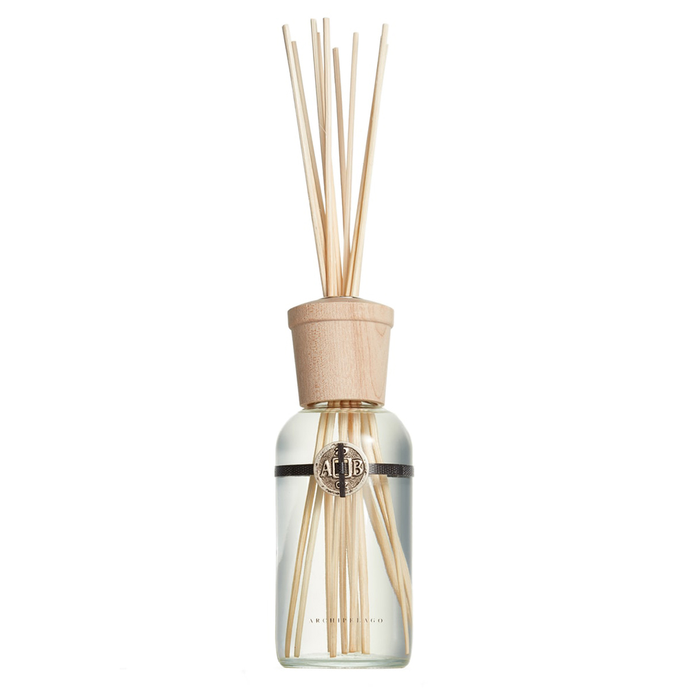 Glass scent diffuser with wood top