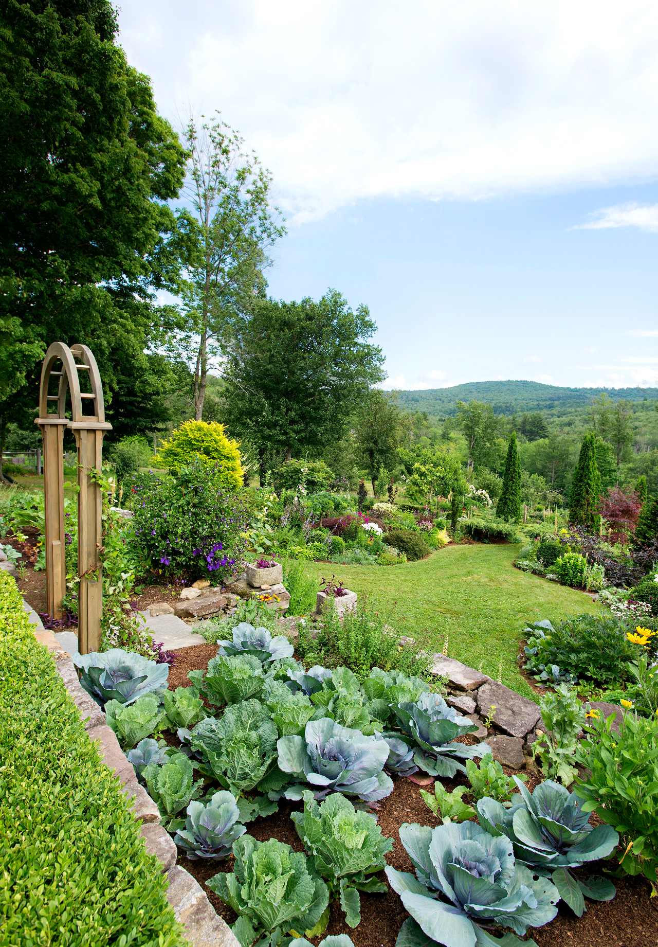This Mixed Flower and Vegetable Garden Beautifully Breaks All the Rules