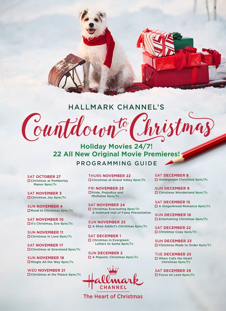 Hallmark Countdown To Christmas 2019 Schedule Hallmark Just Announced When All 36 New Holiday Films Will Air