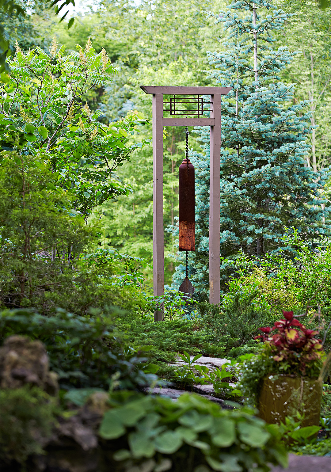 Designed To Announce That One Is Entering Into A Space Of Rebirth, The Moon  Gate Acts As A Portal And Sets The Stage For What Is To Come As Visitors  Enter.