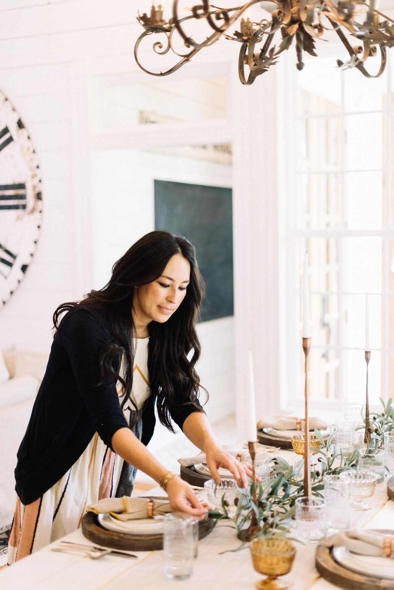 Joanna Gaines Reveals She Sets her Thanksgiving Table with Faux Greenery — Plus More Tips!