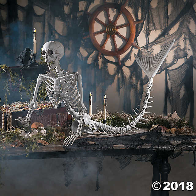 This Mermaid Skeleton is the Ultimate Halloween Decoration