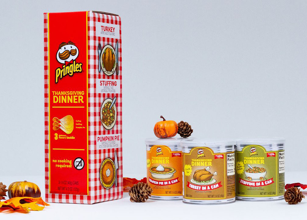 Pringles Is Selling Turkey, Stuffing, and Pumpkin Pie-Flavored Chips for Thanksgiving