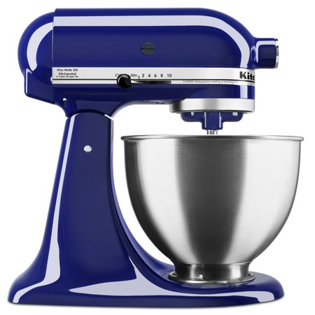 Dark blue KitchenAid stand mixer