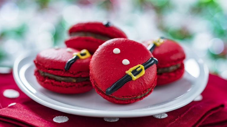 Disney's New Santa Macarons Are the Cutest Christmas Cookies Ever