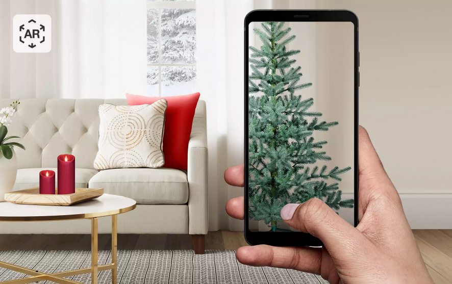 Target's App Lets You Visualize a Christmas Tree in Your Home