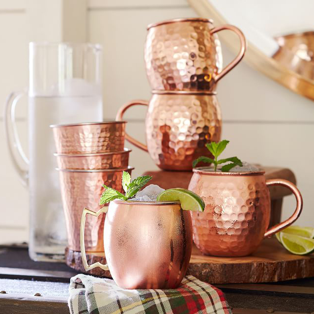 hammered moscow mule mug drinkware set