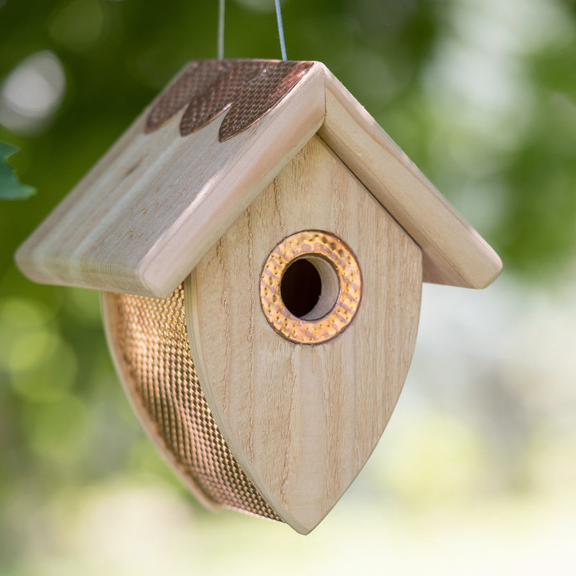 hanging cedar acorn bird house
