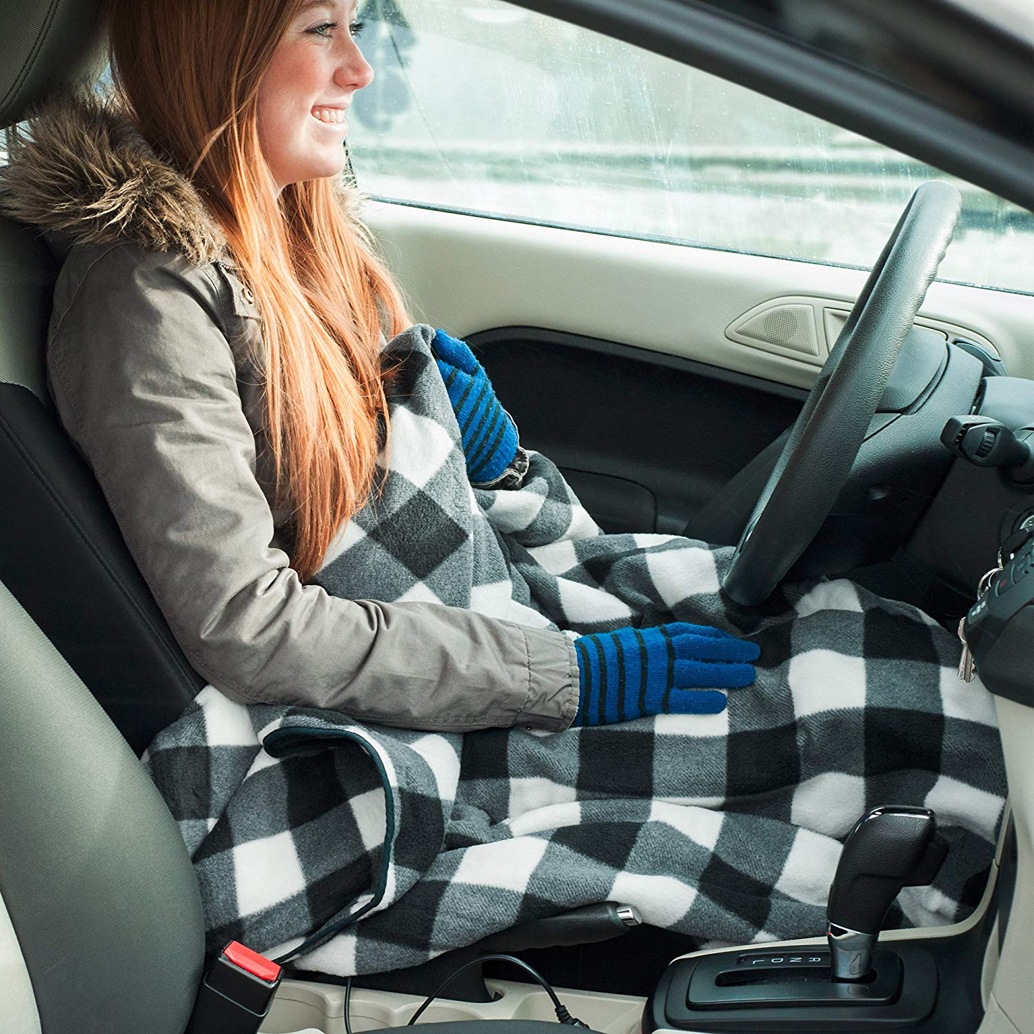 Amazon is Selling a Heated Blanket for Your Car