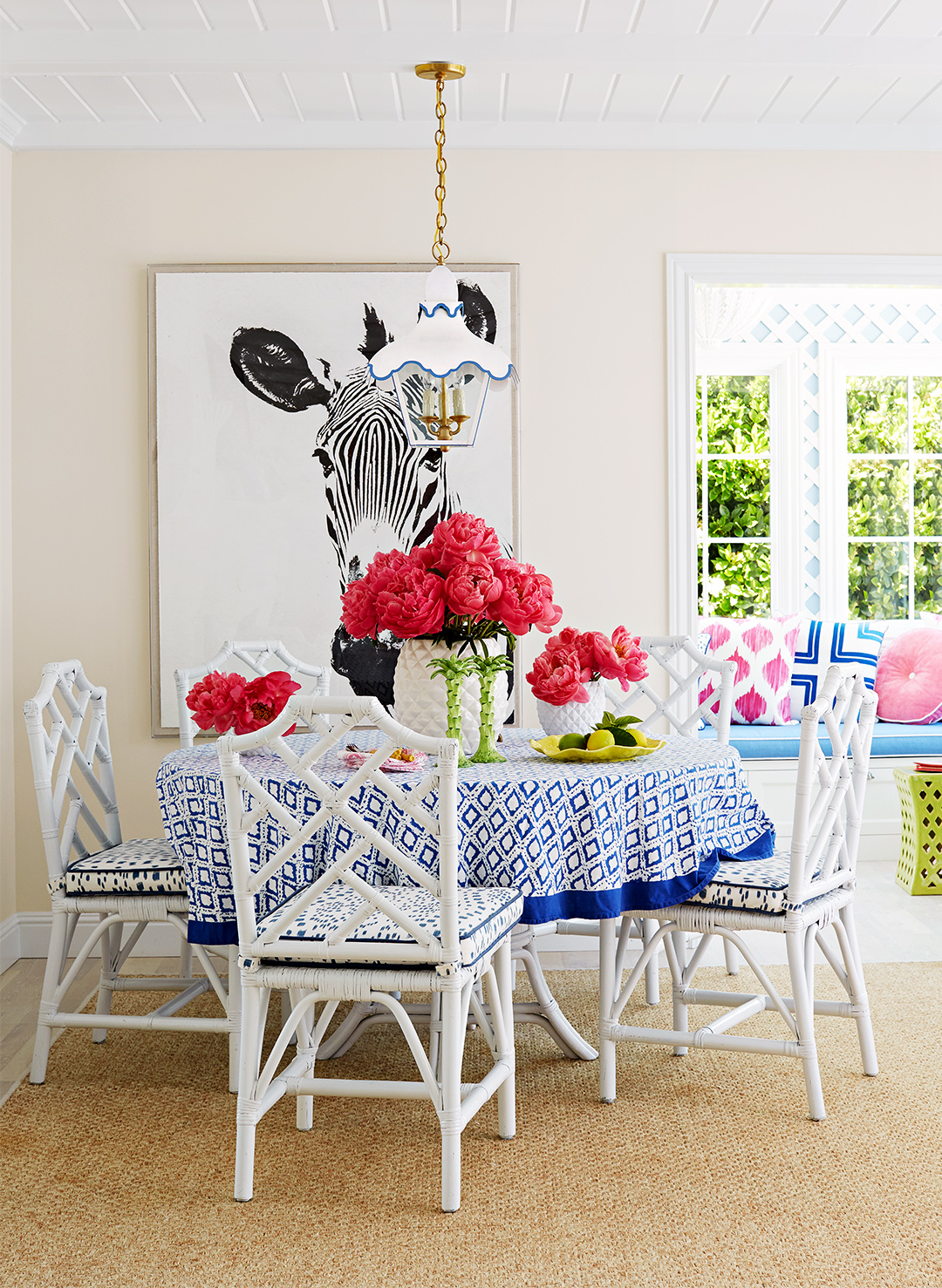 Preppy Meets Posh in This Colorful California Beach Home