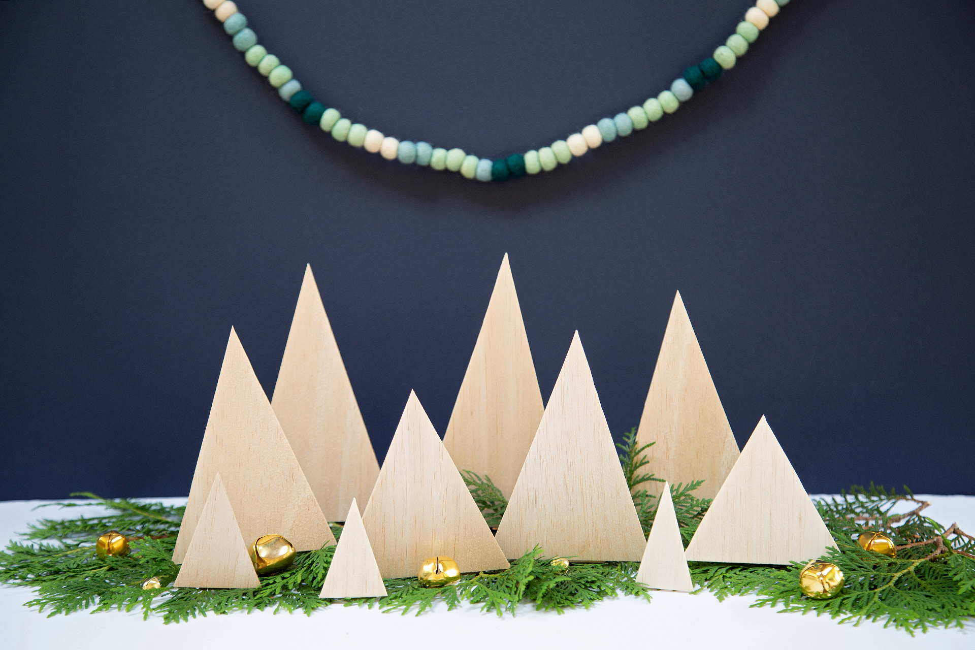 Make a DIY Wood Christmas Tree Village
