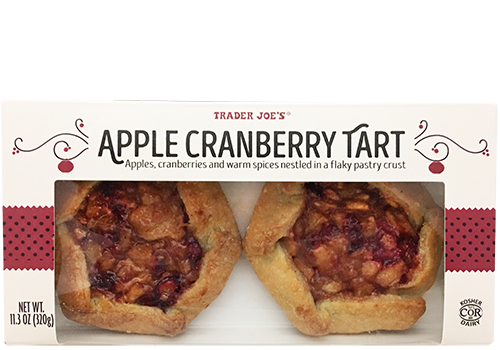 Box of two Trader Joe's Apple Cranberry Tarts