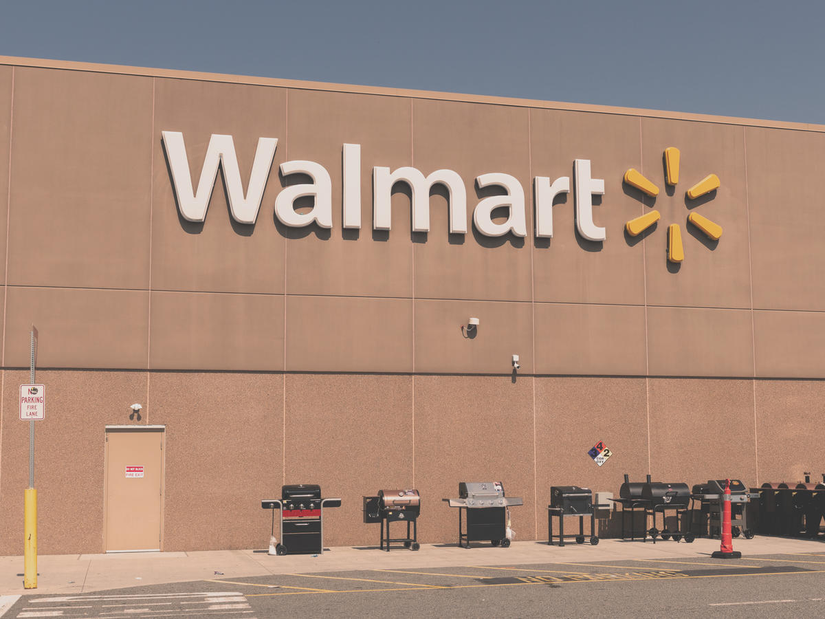 Walmart store with grills in front