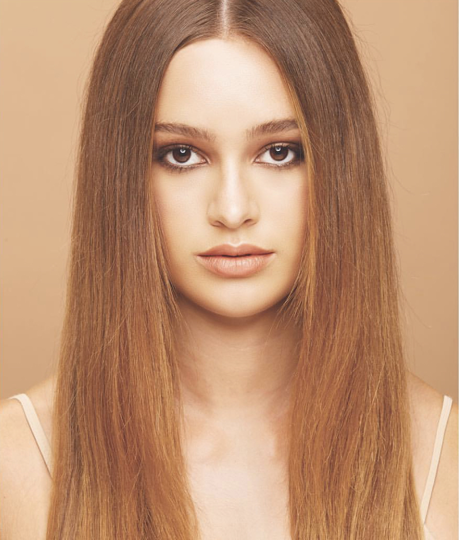 Bronzed blonde hair color