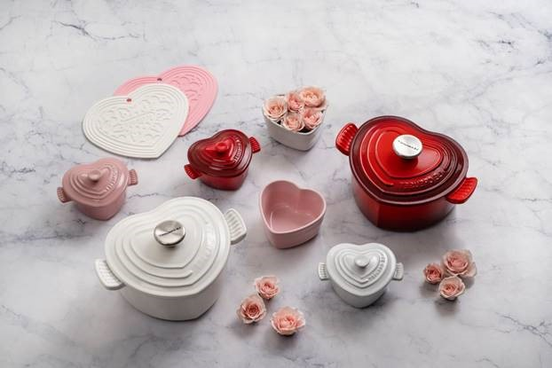 Le Creuset Just Released a Gorgeous Heart Collection for Valentine's Day