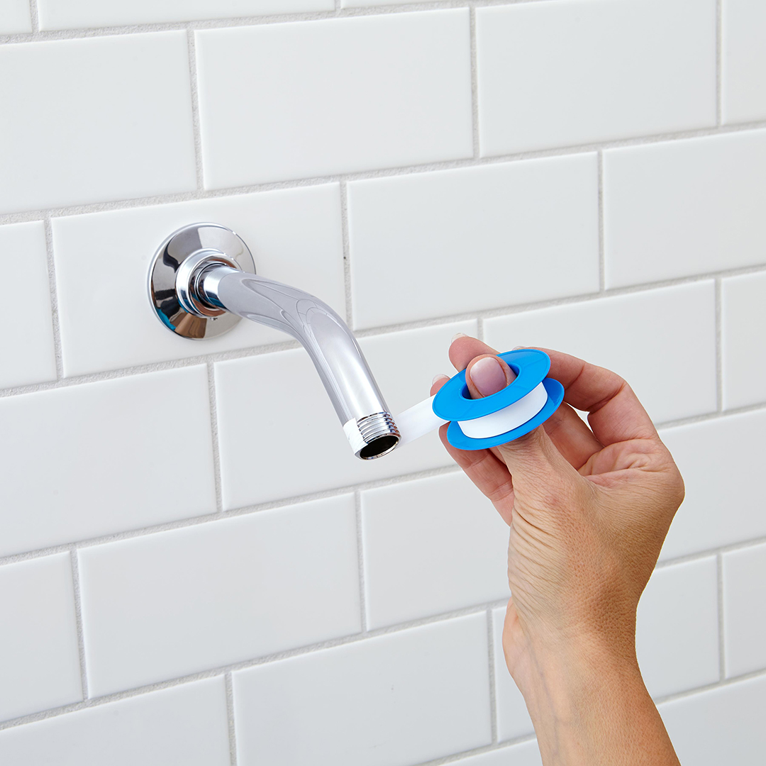 sealant tape over shower head pipe