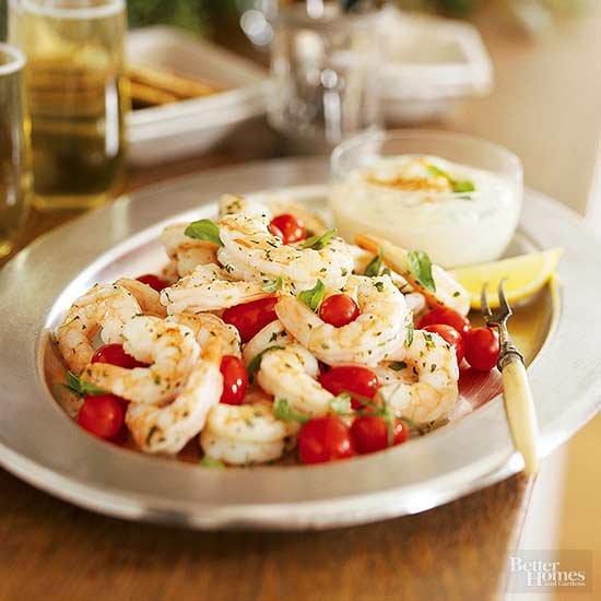 Herbed Shrimp and Tomatoes