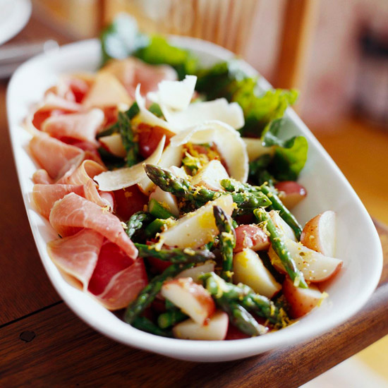 Prosciutto with Asparagus and New Potatoes