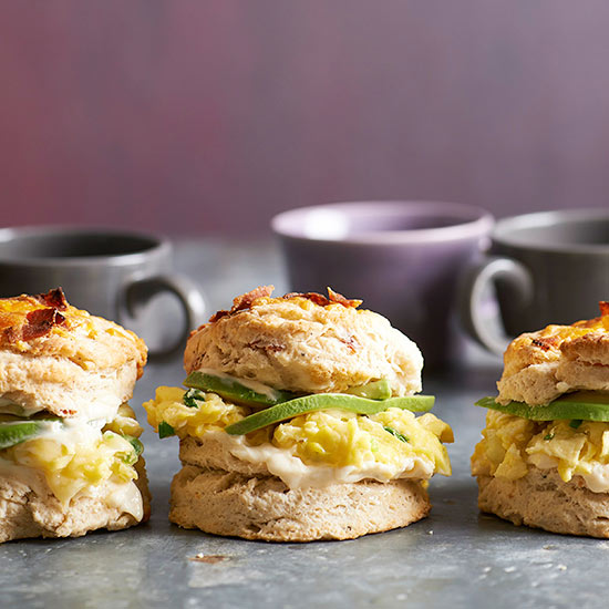 Bacon Biscuit Egg Sandwiches
