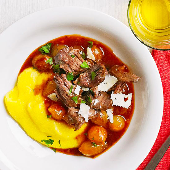 Balsamic Beef Roast with Polenta