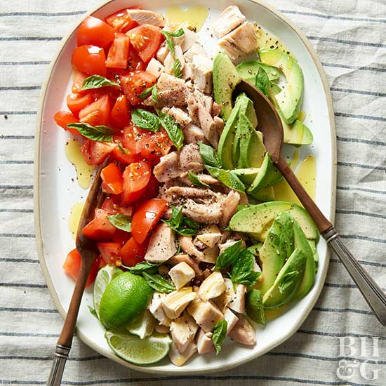 Basil, Chicken, and Tomatoes