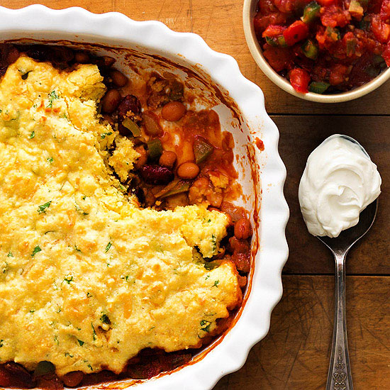 Two-Bean Tamale Pie