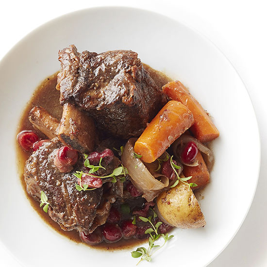 Beef Short Ribs and Cranberry Gravy