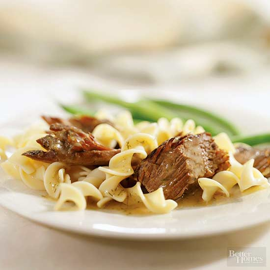Dilled Pot Roast with Noodles