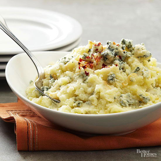 Blue Cheese-Garlic Potatoes
