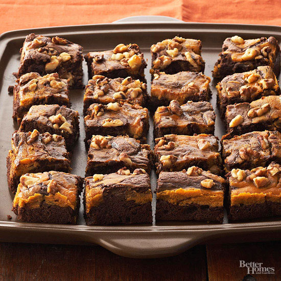 Luscious Chocolate-Pumpkin Brownies